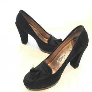 Sam Edelman Sz 6M Black Suede Leather High Heels